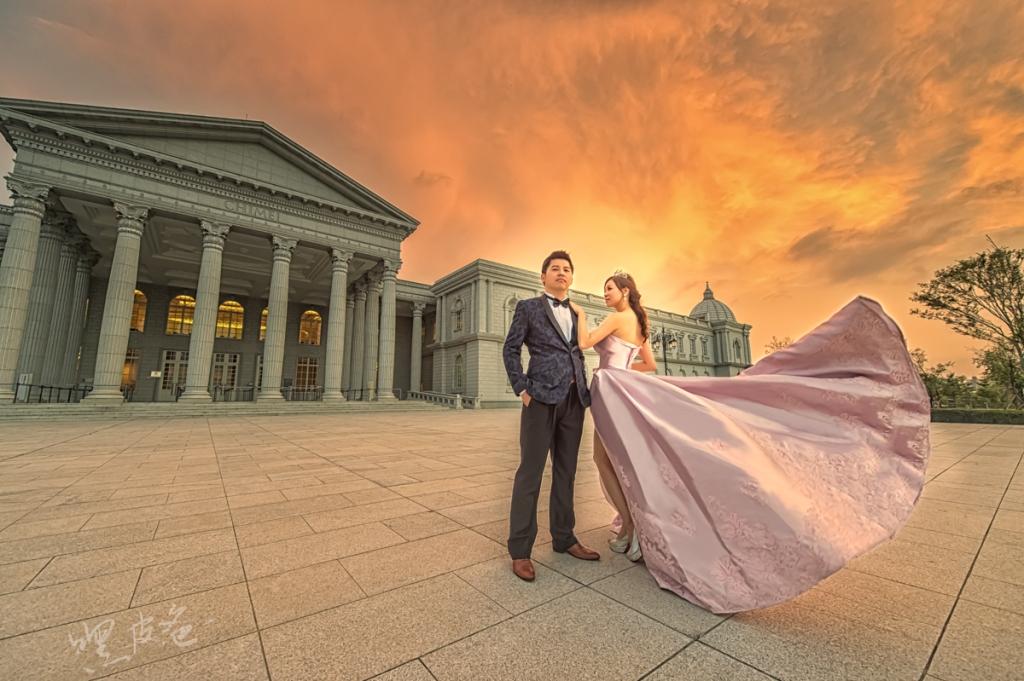 奇美博物館 婚紗 夕陽 霸氣 新人推薦景點