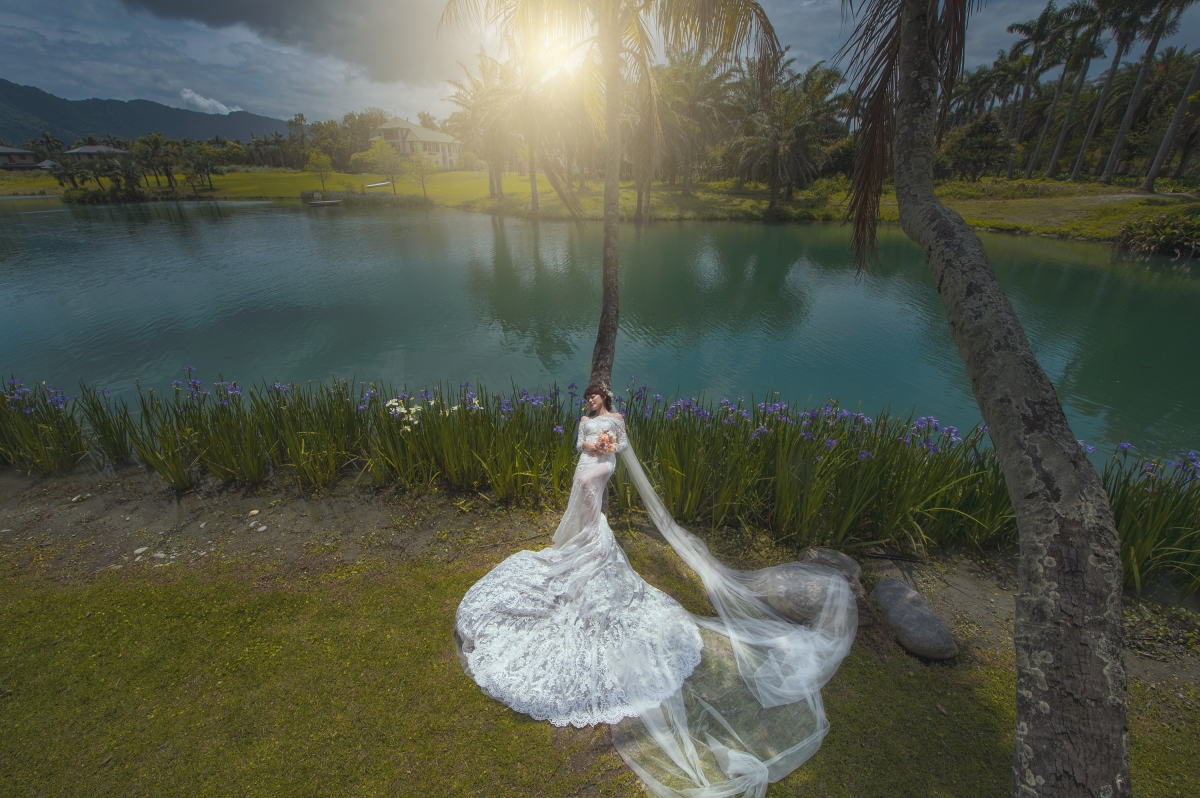 【國內自助婚紗】 嘿皮爸 x 白色婚禮手工婚紗 x 如真  花蓮 有熊森林villa 拍婚紗也太美了!~