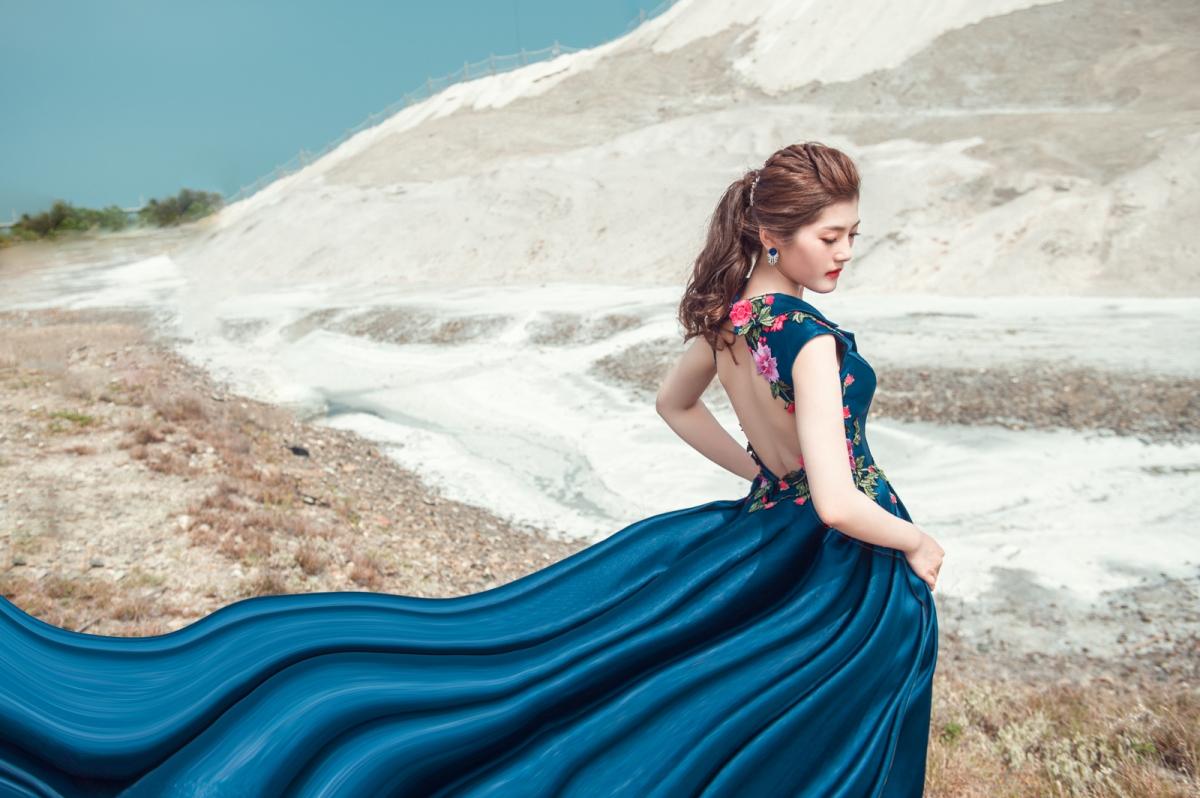 【國內自助婚紗】 嘿皮爸 x 白色婚禮手工婚紗 x 姵歆 台南 鹽山 時尚與酷的結合