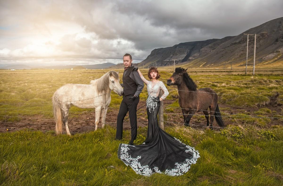 [iceland冰島海外婚紗]春季冰島 雙膝下跪的感動 完成新人的夢想很重要