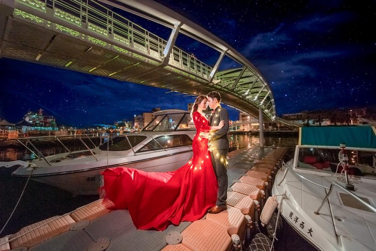 【國內自助婚紗】 嘿皮爸 x 白色婚禮手工婚紗 x Vicky 高雄 渡船頭 景觀橋 婚紗